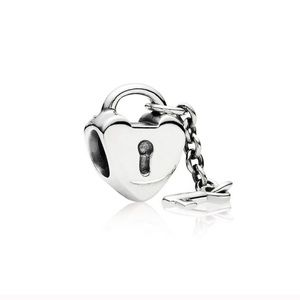 Pandora Retired Key To My Heart Dangle Charm